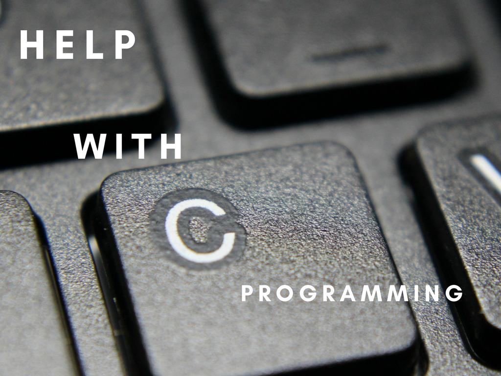 C Programming Homework Help