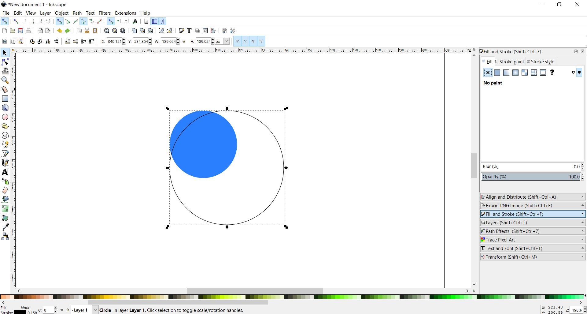 2 circles inkscape
