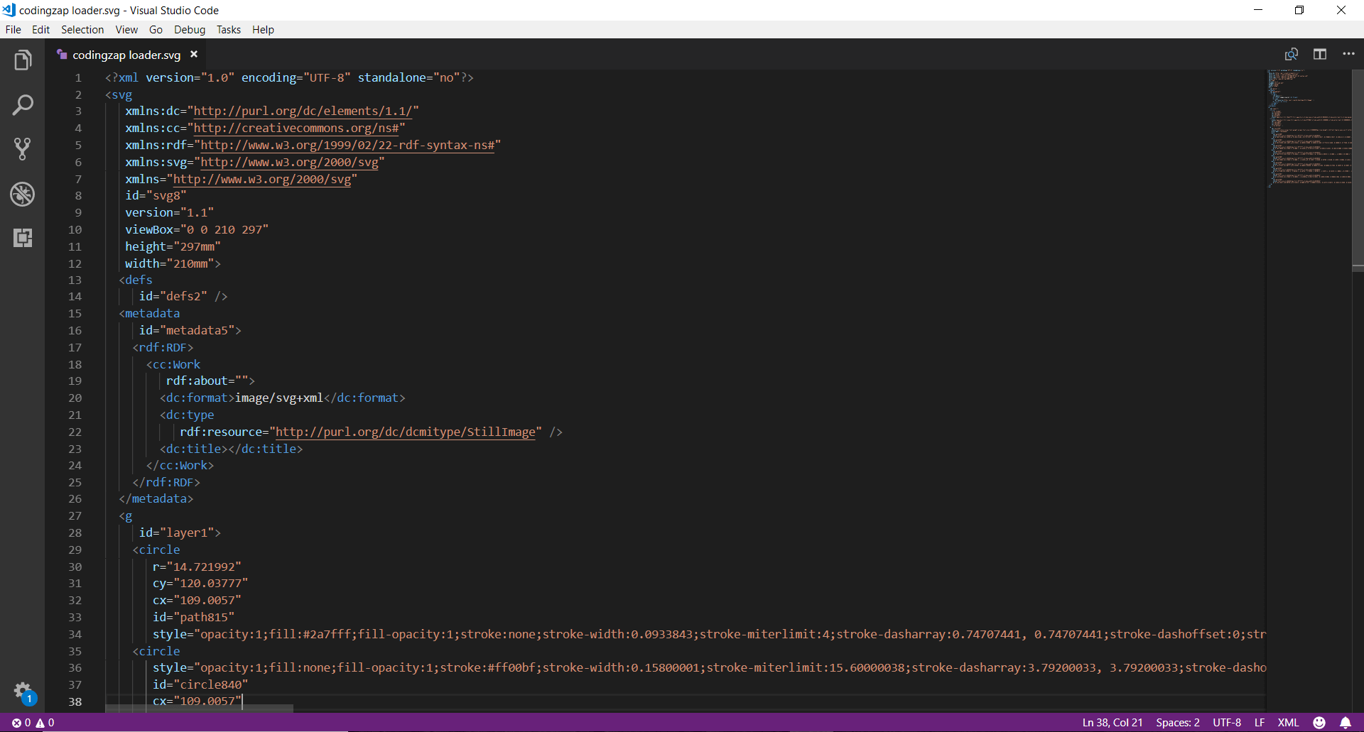 svg in visual studio code