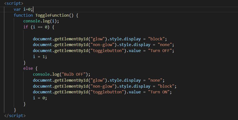 javascript toggle function