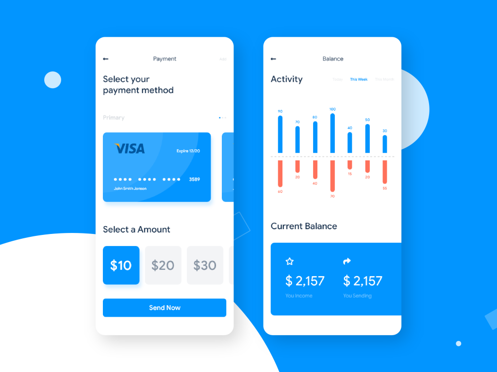 ZAPAY payment wallet UI UX design