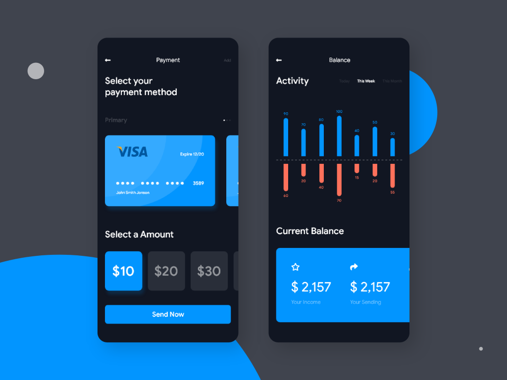 ZAPAY payment wallet UI