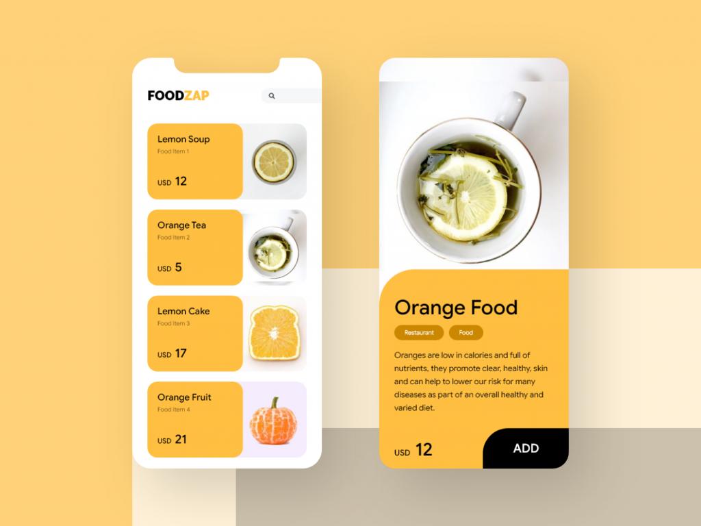 FoodZAP- Food order app UI/UX concept