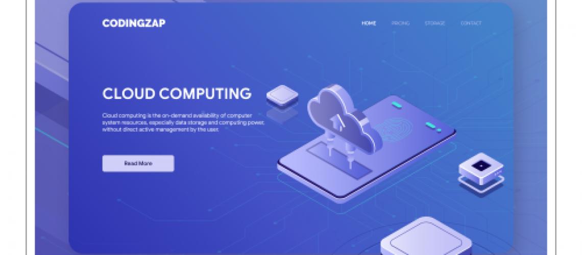 CLOUDZAP- Cloud computing UI UX concept